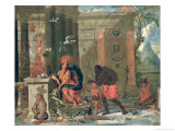 Allegory of America, 1691 Gicl&#233;e-Druck von Ferdinand Van Kessel