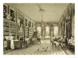 Library as Sitting Room, Cassiobury Park, 1815, London, 1837 Giclee Print by August Welby North Pugin
