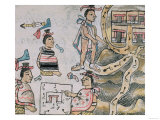Book IX Aztecs Consulting and Following a Map Giclee Print