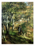 Jules Le Coeur in the Forest of Fontainebleau, 1866 Giclee Print by Pierre-Auguste Renoir