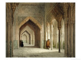 The Court Room of the Alhambra, Granada, 1853 Reproduction procédé giclée par Leon Auguste Asselineau