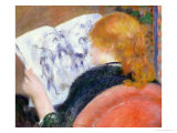 Young Woman Reading an Illustrated Journal, circa 1880-81 Giclee Print by Pierre-Auguste Renoir
