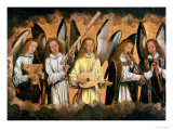 Five Angels Playing Musical Instruments Giclee Print by Hans Memling
