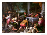 The Rich Man and Lazarus, 1590-95 Giclee Print by Leandro Da Ponte Bassano