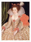 Princess Elizabeth, Daughter of James I, 1612 Giclee Print by Marcus Gheeraerts