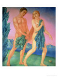 The Expulsion from Paradise, 1911 Giclee Print by Kuzma Sergievitch Petrov-Vodkin