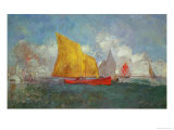 Yachts in a Bay Giclee Print by Odilon Redon
