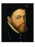 Portrait of Philip II of Spain Giclee Print by Antonis Mor