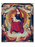 Coronation of the Virgin, Centre Panel from the Bourbon Altarpiece, circa 1498 Giclee Print by  Master of Moulins