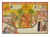 "The Marriage of Rama and His Brothers from the ""Sangri Ramayana"" Giclee Print"