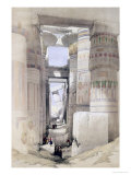 "View Through the Hall of Columns, Karnak, from ""Egypt and Nubia"", Vol.1 Giclee Print by David Roberts"