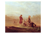 Voltaire with Peasants Giclee Print by  Gruber Or Grueber