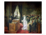 The Civil Marriage, 1881 Giclee Print by Henri Gervex