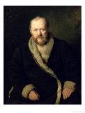 Portrait of Aleksandr Ostrovsky 1871 Giclee Print by Vasili Grigorevich Perov