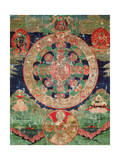 Bardo Mandala, Thangka Showing the Period Between Death and Reincarnation Giclee Print
