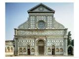 Facade of Santa Maria Novella, circa 1458-70 Giclee Print by Leon Battista Alberti