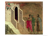 Maesta: Christ Appearing on the Road to Emmaus, 1308-11 Giclee Print by Duccio di Buoninsegna