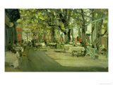 Cafe in Yalta, 1905 Premium Giclee Print by Konstantin A. Korovin