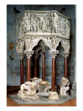 Hexagonal Pulpit with Dramatic Reliefs, circa 1297 Giclée-tryk af Giovanni Pisano