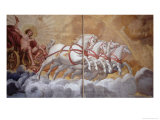 The Sun God Driving His Chariot Across the Sky, Ceiling Painting Gicl&#233;e-Druck von Antonio Maria Viani