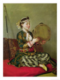 Turkish Woman with a Tambourine Giclee Print by Jean-Etienne Liotard