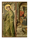 St. Dorothy, Left Hand Panel of Polyptych Reproduction procédé giclée par Jost Amman