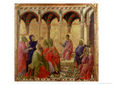 Maesta: Christ Among the Doctors, 1308-11 Giclée-tryk af Duccio di Buoninsegna