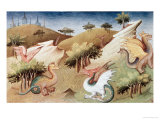 Dragons and Other Beasts Giclee Print by Boucicaut Master 