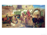 A Street in Jerusalem, 1867 Giclee Print by William J. Webbe Or Webb