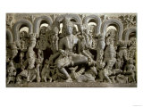 Lintel Depicting the Trinity: Siva, Brahma and Vishnu, Warangal, Kakatiya Giclee Print