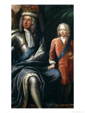 George I and His Grandson, Prince Frederick, Detail from the Painted Hall Giclee Print by Sir James Thornhill