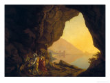 A Grotto in the Kingdom of Naples, with Banditti, Exh. 1778 Giclee Print by Joseph Wright of Derby