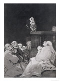 "What a Golden Beak!, Plate 53 of ""Los Caprichos"", 1799 Giclee Print by Francisco de Goya"