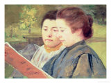 Women Reading Giclee Print by Mary Cassatt