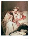A Mother's Love, 1839 Impression giclée par Josef Danhauser