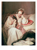 A Mother's Love, 1839 Giclee Print by Josef Danhauser