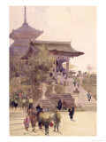 The Entrance to the Temple of Kiyomizu-Dera, Kyoto, with Pilgrims Ascending Giclee Print by Sir Alfred East