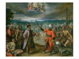Allegory of the Turkish Wars: the Declaration of War at Constantinople, 1603-4 Reproduction procédé giclée par Hans von Aachen