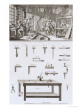 Plate XVIII: the Instrument Maker's Workshop and Tools Premium Giclee Print by Robert Benard