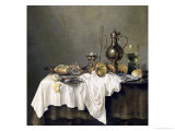 Breakfast with a Crab, 1648 Giclee Print by Willem Claesz. Heda