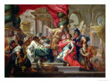 Alexander the Great in the Temple of Jerusalem Gicl&#233;e-Druck von Sebastiano Conca