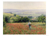 Woman in a Poppy Field Giclee Print by Leon Giran-max