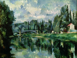 The Banks of the Marne at Creteil, circa 1888 Giclee Print by Paul Cézanne