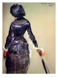 Mary Cassatt at the Louvre Premium Giclee Print by Edgar Degas