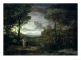 Landscape with Jacob Wrestling with the Angel, or Night, 1672 Giclee Print by Claude Lorrain