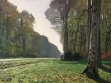 A estrada para Bas Breau, Fontainebleau, cerca de 1865 Impressão giclée por Claude Monet