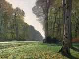 The Road to Bas-Breau, Fontainebleau, circa 1865 Premium Giclee Print by Claude Monet