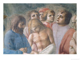St. Peter Baptising the Neophytes, circa 1427 Giclee Print by Tommaso Masaccio