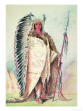 "Sioux Chief, ""The Black Rock"", 19th Century Giclee Print by George Catlin"