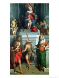 Madonna and Child with Saints Giclee Print by Benvenuto Tisi Da Garofalo